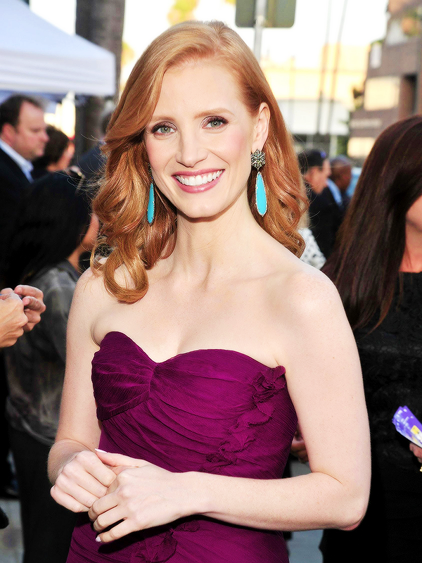 """Jessica Chastain attends """"The Help"""" Los Angeles Premiere on August 8, 2011"""