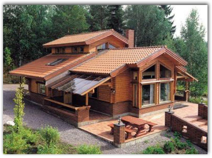Casas de madera para fincas dise o interiores for Casas de madera baratas