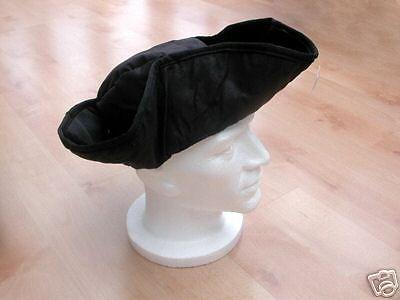 POLDARK MENS LADIES BLACK MEDIEVAL CAPTAIN JACK TRICORN PIRATE COSTUME HAT  NEW in Clothes 84972921e3fa