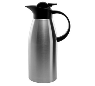 Service Ideas KVP1900 1.9 liter Stainless Touch Coffee Server, Brushed Stainless & Black #coffeeserver