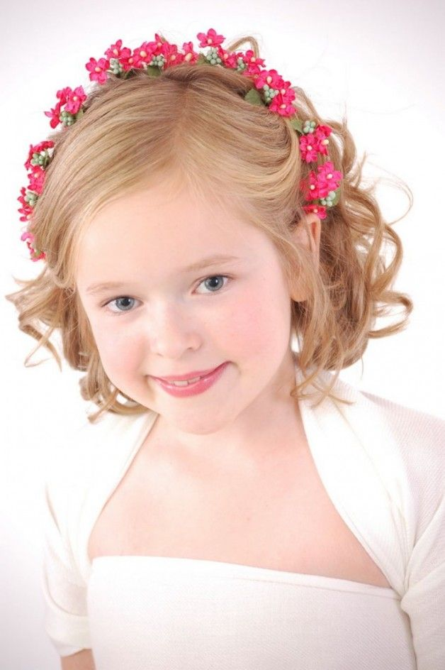 30 Best Curly Hairstyles For Kids Wedding Hair Styles Pinterest