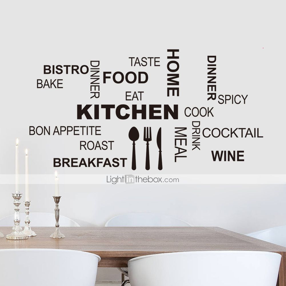 Wall Decals & Murals Retro Cocktail Glass Wall Sticker Quote Decal ...