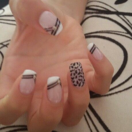 Unas Decoradas Blanco Y Negro Nails Nails Manicure Y Makeup