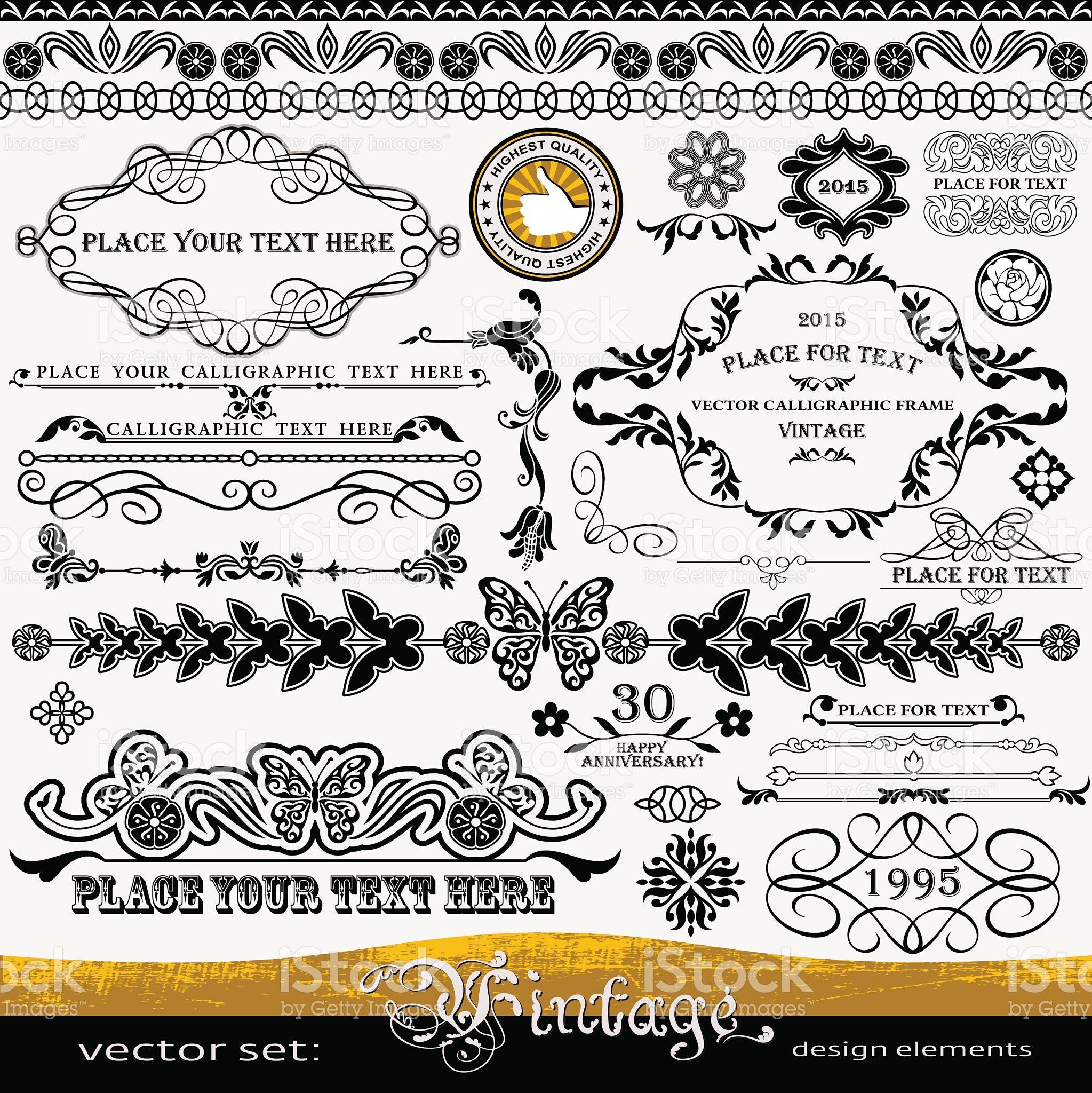 f3c13f60f7c Vintage design elements - frames