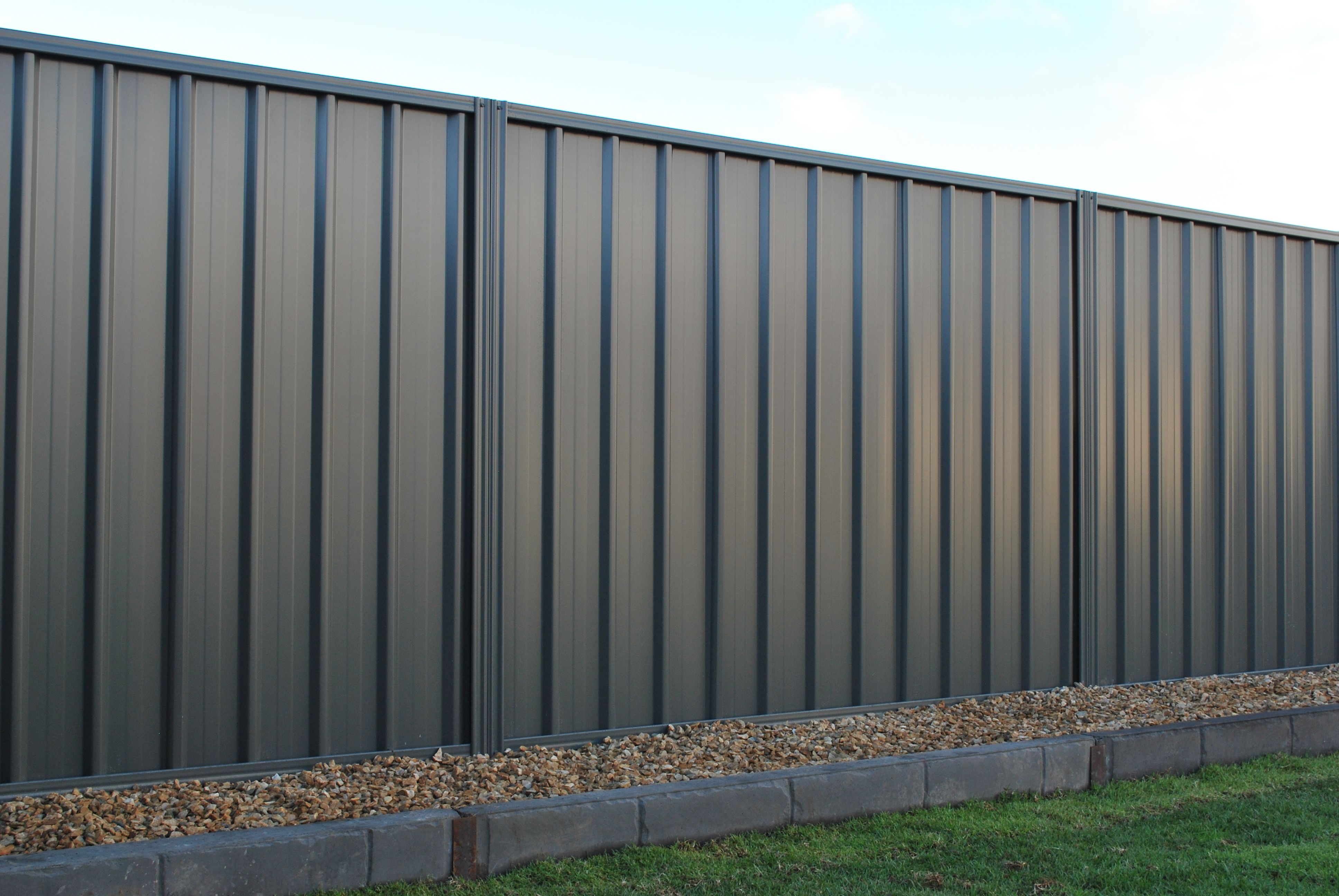 Double Side 1.8m Smooth Cream Steel Fencing Panel TL32DSDO ...