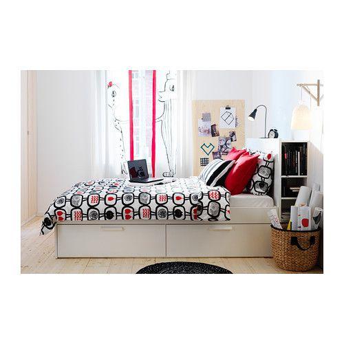 IKEA BRIMNES Bed frame Storage and Headboard Luröy | My stuff ...
