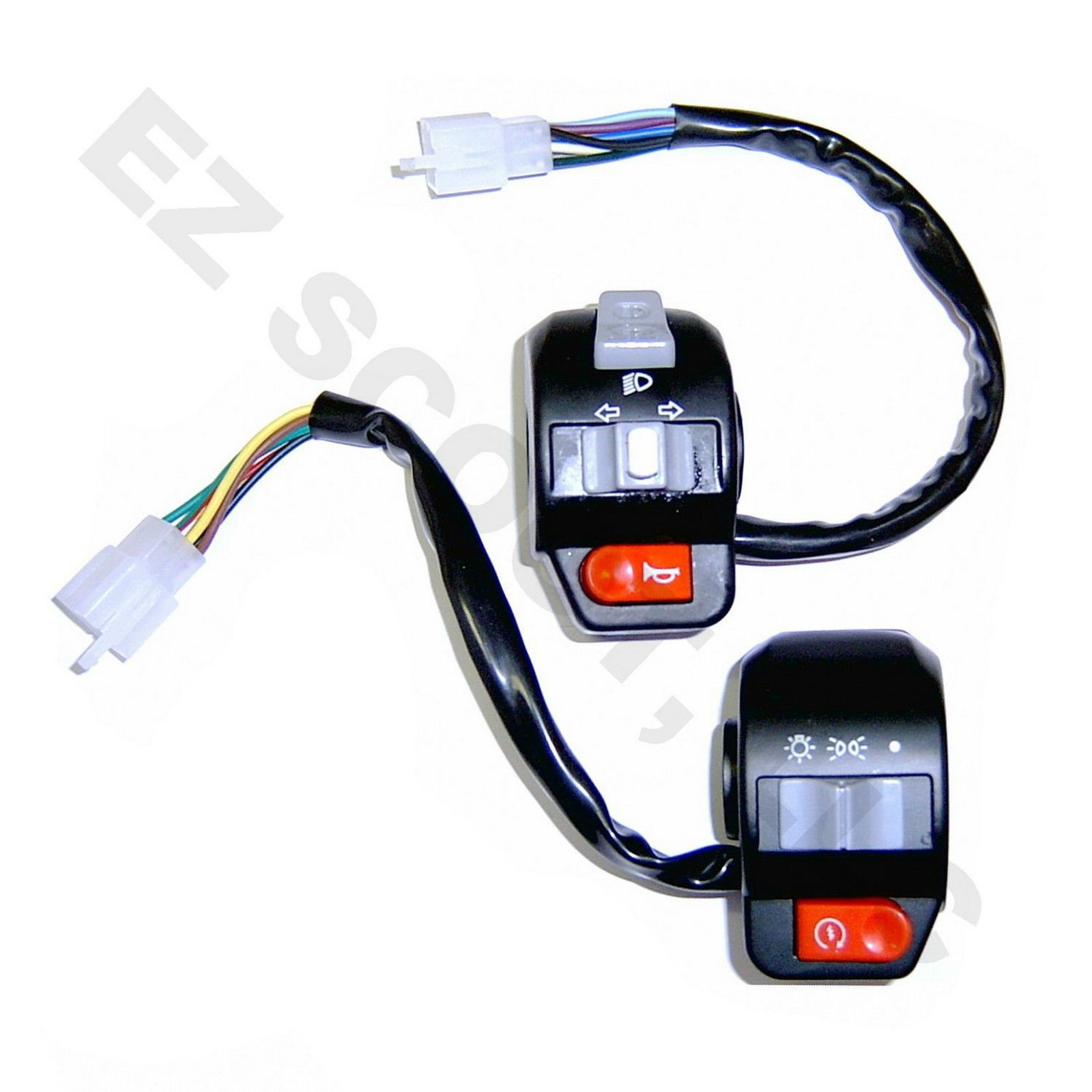 medium resolution of left right handlebar switch control chinese scooter gy6 4 stroke priority ebay