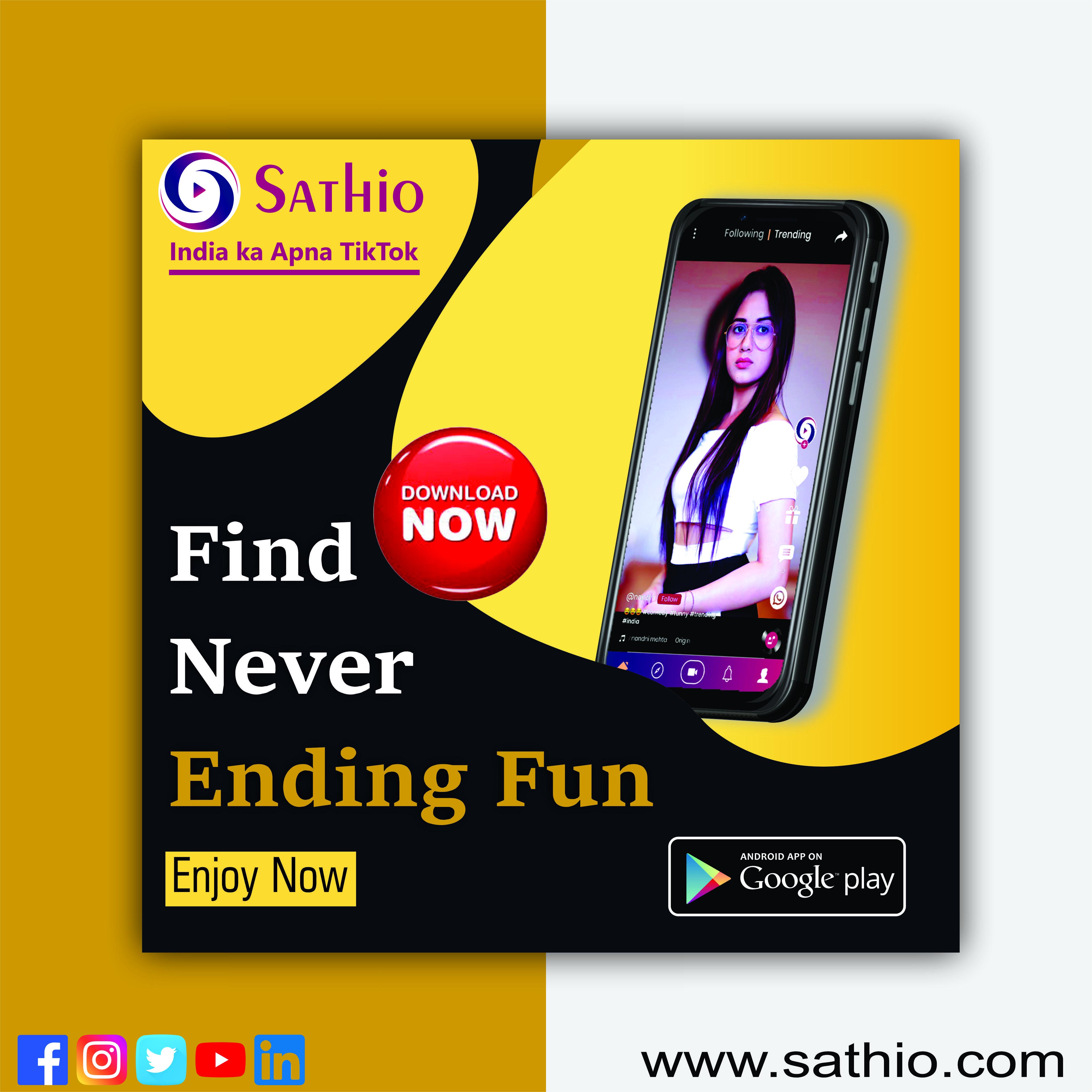 Sathio India Ka Tiktok Video App App Video