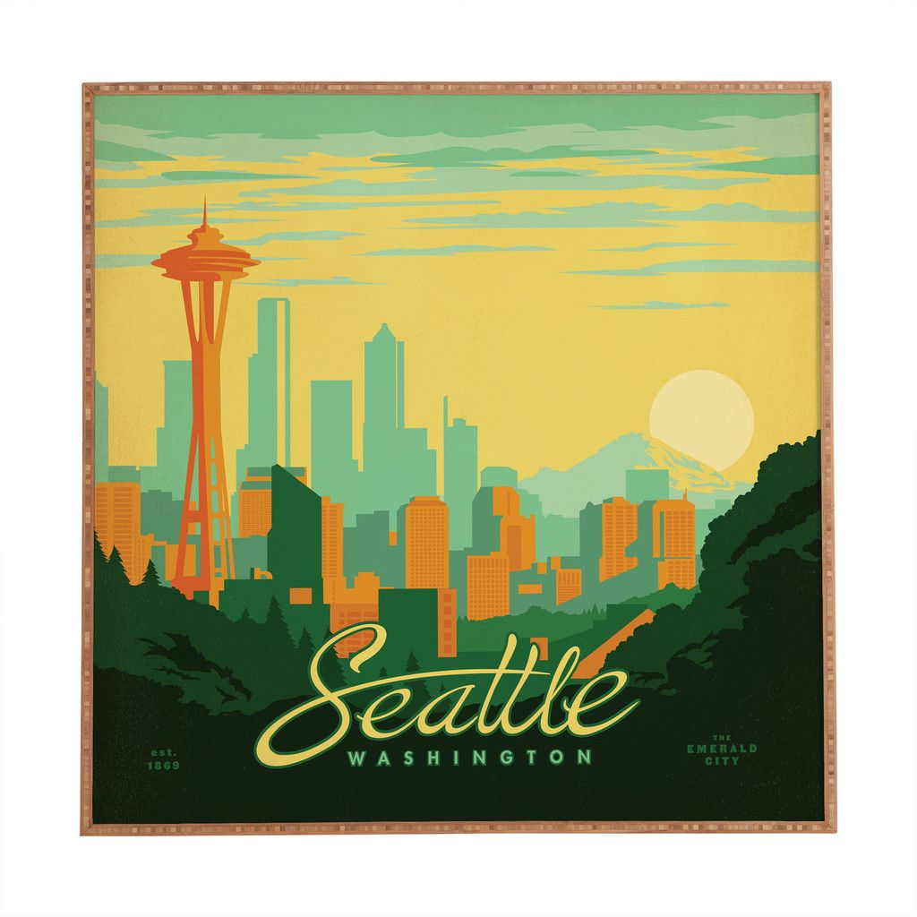 Anderson Design Group Seattle Framed Wall Art | Framed wall art ...