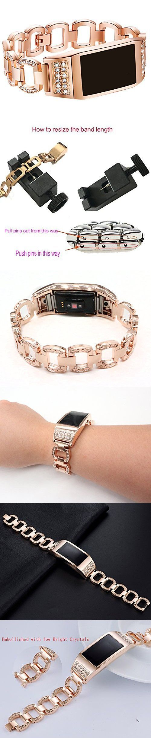 Watch accessories wristband metal adjustable replacement bands for