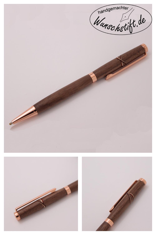 Dieser Kugelschreiber Ist Aus Walnuss Ahorn Und Padouk Handgefertigt Mehr Auf Wunschstift De Kugelschreiber Stifte Handgefertigt