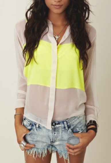 Neon accents.