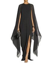 Photo of Maxi dress formal evening dress split long sleeve in ch …