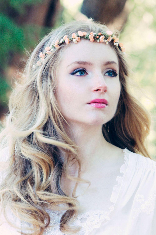Bridal headband white headpiece rustic woodland by