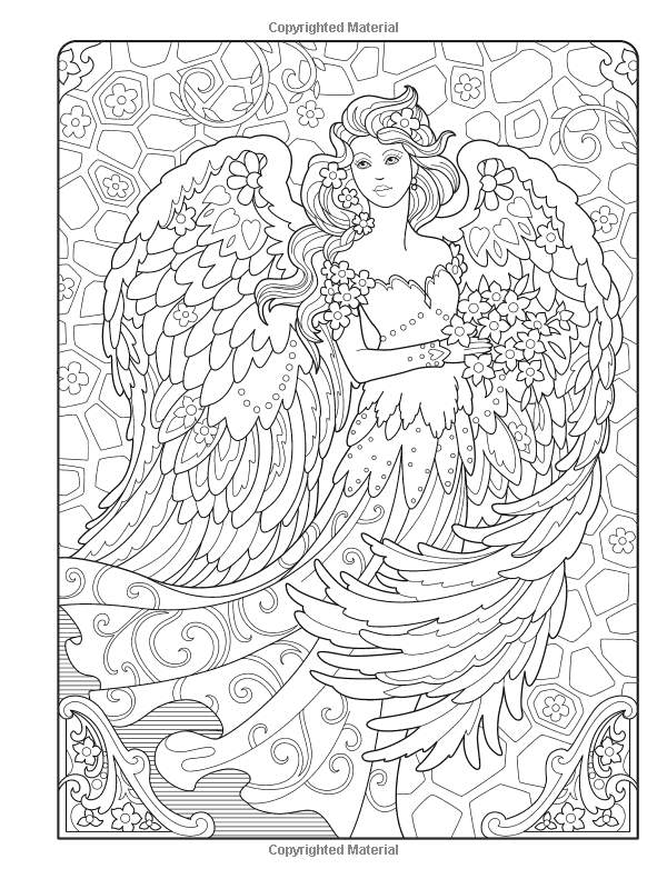 Creative Haven Beautiful Angels Coloring Book (Adult ...
