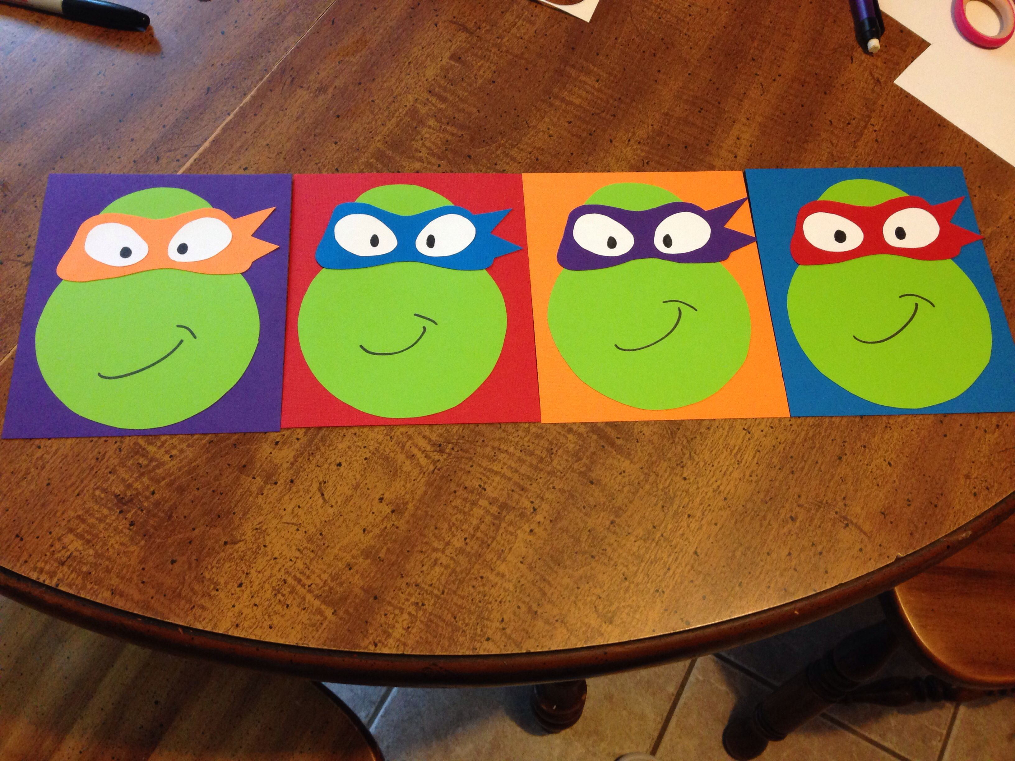 Diy ninja turtle invitations i could so do that pinterest diy ninja turtle invitations solutioingenieria Images