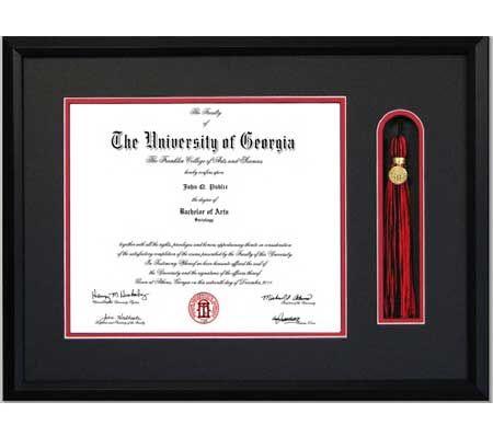 uga diploma frame with tassel - Diploma Frames With Tassel Holder
