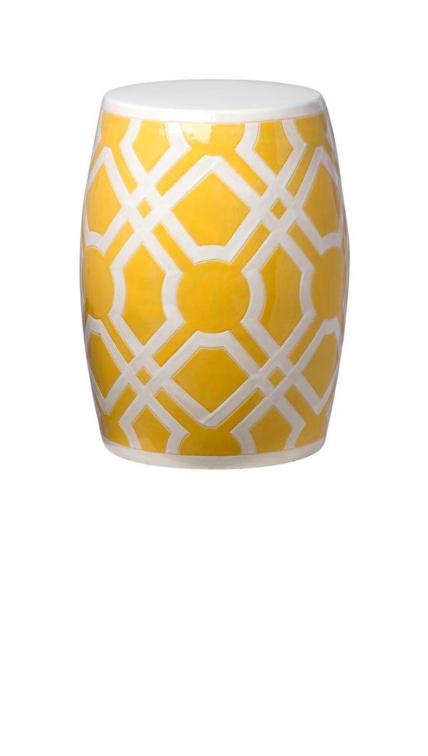 InStyle Decor.com Yellow Garden Stool, Garden Stool Ideas, Chinese Garden  Stools, Ceramic Garden Stools, Porcelain Garden Stools, Ceramic Side  Tables, ...