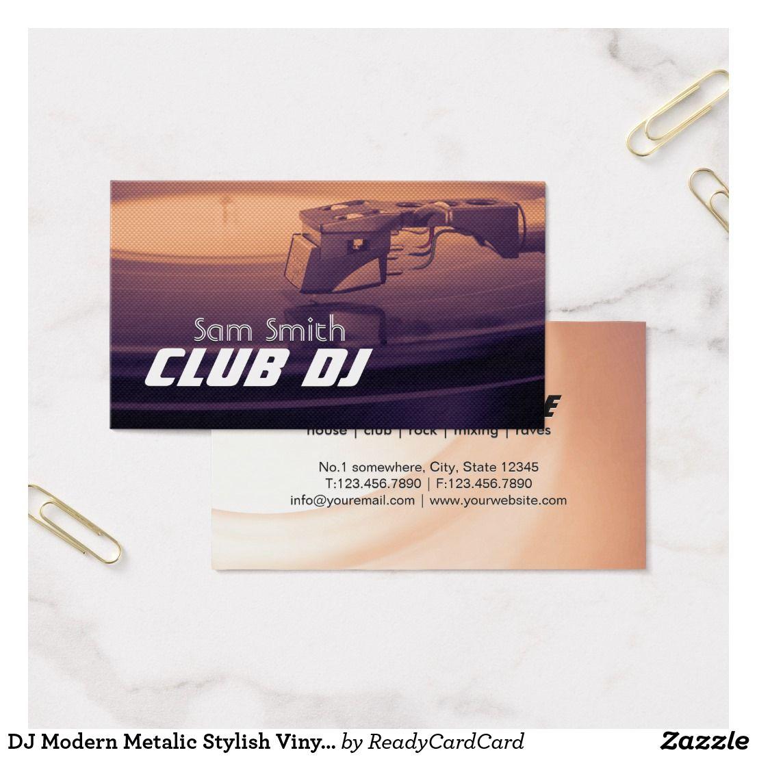 Dj modern metalic stylish vinyl recoder mixer business card dj dj modern metalic stylish vinyl recoder mixer business card reheart Image collections