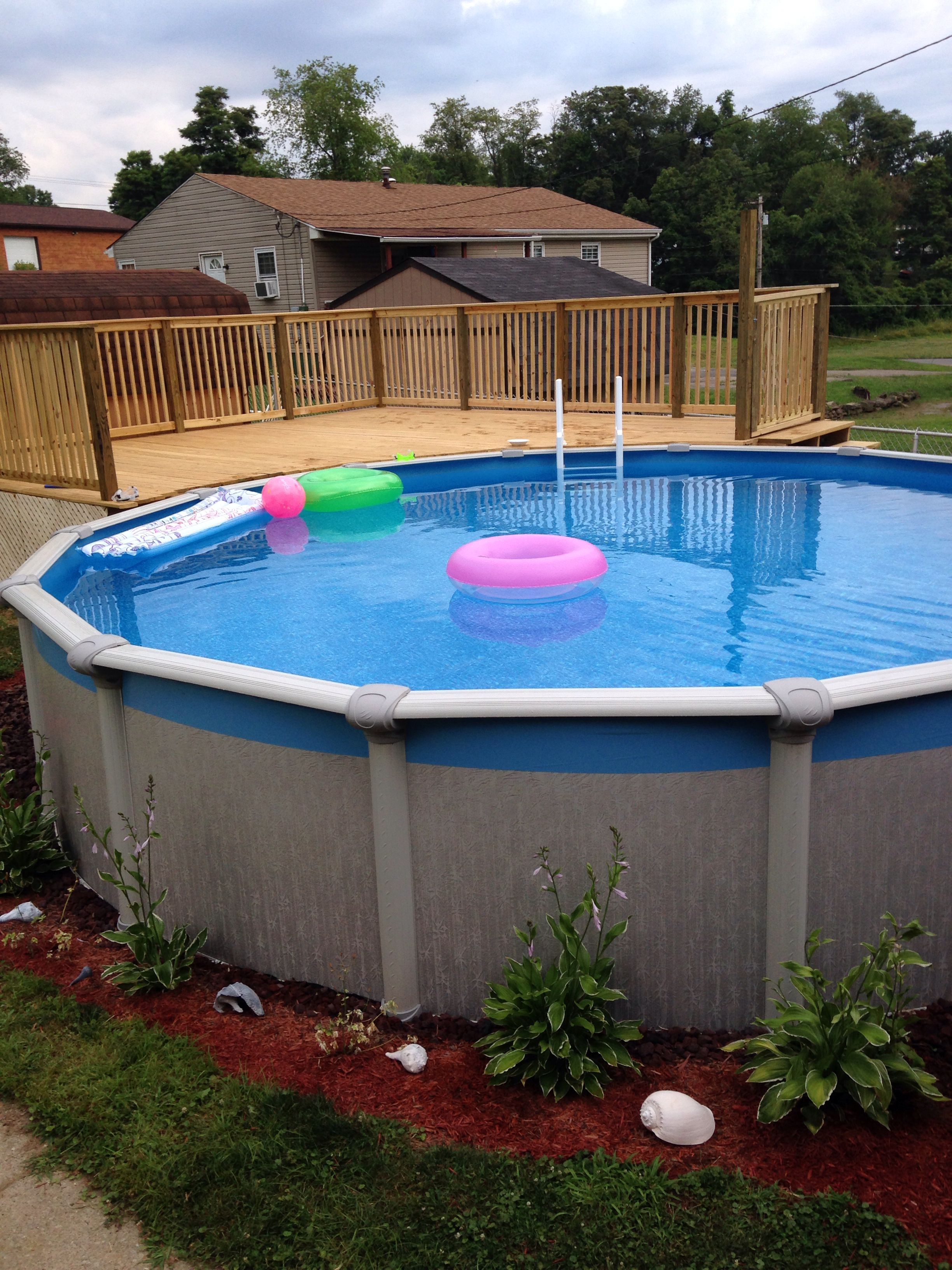 Above Ground Pool Deck Pool Ideas Above Ground Pool