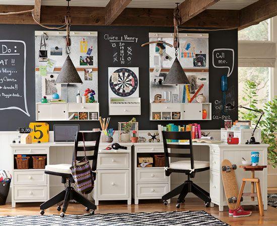 Cuarto de estudio para ni os sugerencias de decoraci n - Habitacion estudio decoracion ...