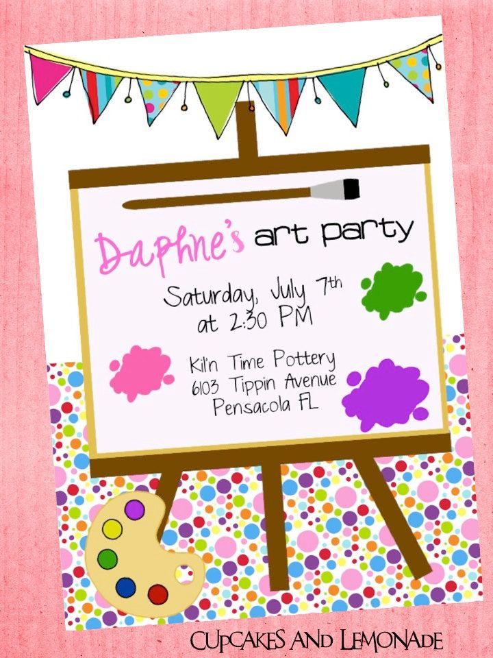 Art Party Birthday   Paint Party!   Pinterest   Art party, Birthdays ...