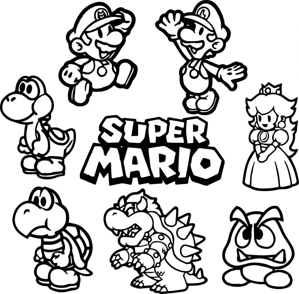 Mario Brothers Coloring Pages Cinebrique