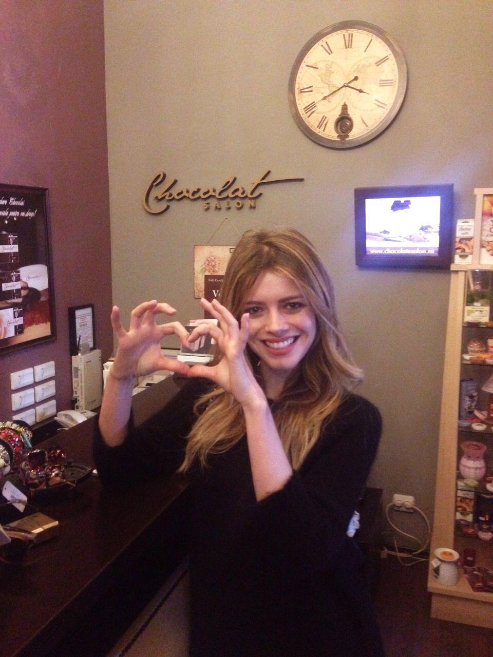 Alexandra Dinu la Salonul Chocolat