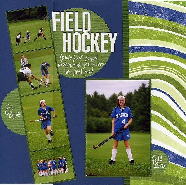 Field Hockey By Pattyscraps 2peasinabucket Field Hockey School Scrapbook Hockey