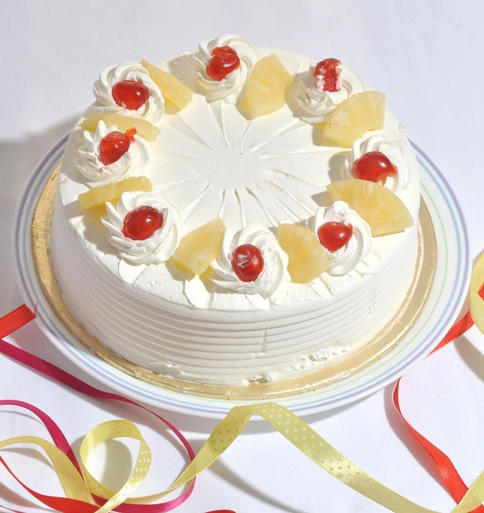 Send Gifts To Pakistan Pineapple Cake From 5 Star Bakery Gift