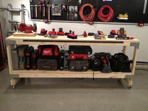 How To Build A Heavy Duty Workbench Diy Storage Bench Garage Work Bench Diy Storage Bench Plans