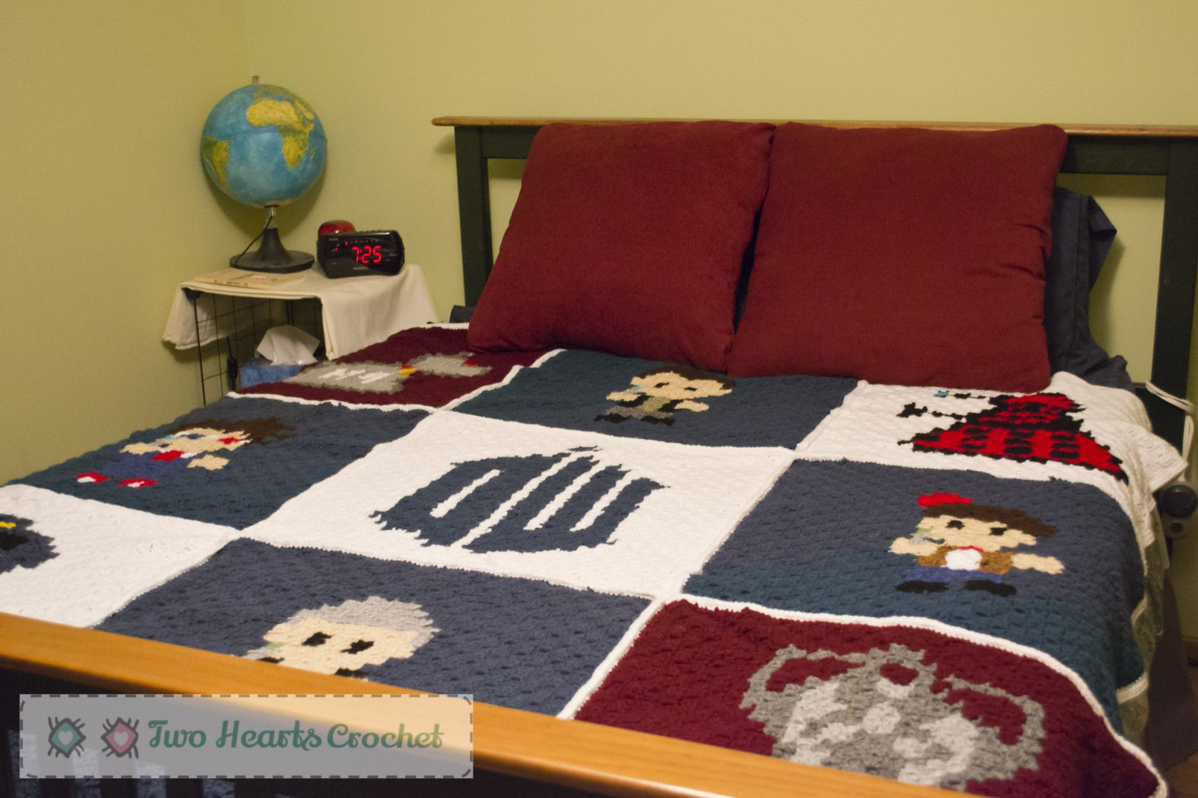 Free Crochet Pattern Blanket Dr Who Whovian Graphghan 3 Of 3