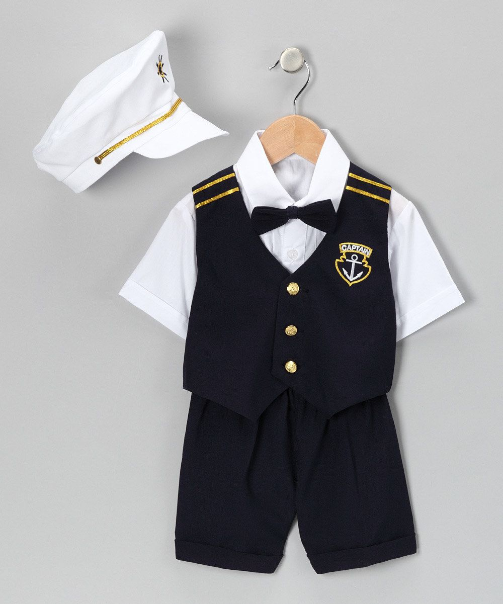 a3ffebde95cf Take a look at this Navy  Captain  Shorts Suit Set - Infant