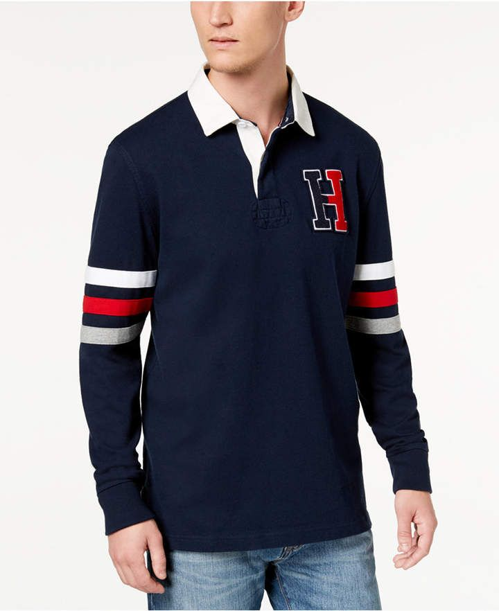 6f85a1d4 Tommy Hilfiger Men's Big & Tall Kunitz Rugby Classic Fit Polo Shirt,  Created for Macy's