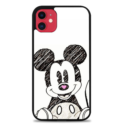 Mickey Mouse Hand Drawing O0083 iPhone 11 Case di 2020