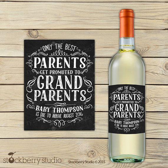 Pregnancy Announcement Pregnancy Announcement Grandparents Pregnancy Announcement Sign Pregnancy Idea Pregnancy Announcement Wine Label