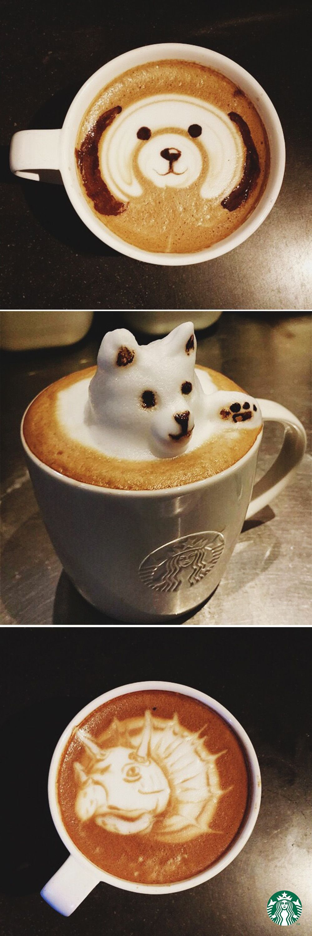Ever Seen a Cat Made From Coffee? Latte art, Coffee art