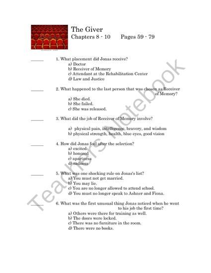 Proposal Argument Essay Examples The Giver  Quiz On Chapters  From Team Panther Resource Spot On  Teachersnotebookcom   Pages  Multiple Choice And Short Answer Quiz On The  Giver  Compare And Contrast Essay Examples High School also The Yellow Wallpaper Character Analysis Essay The Giver  Quiz On Chapters  From Team Panther Resource Spot On  Apa Style Essay Paper