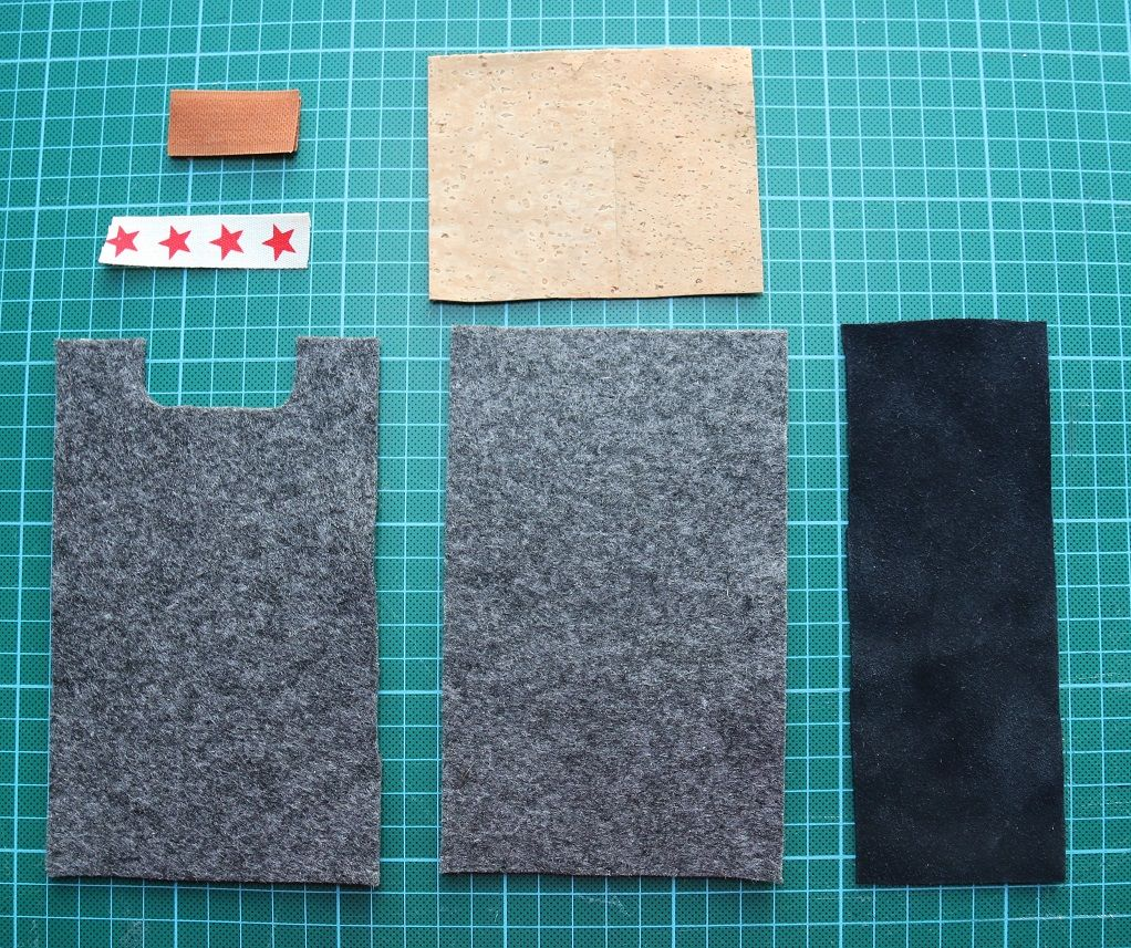 f r anf nger handytasche aus filz n hprojekte. Black Bedroom Furniture Sets. Home Design Ideas
