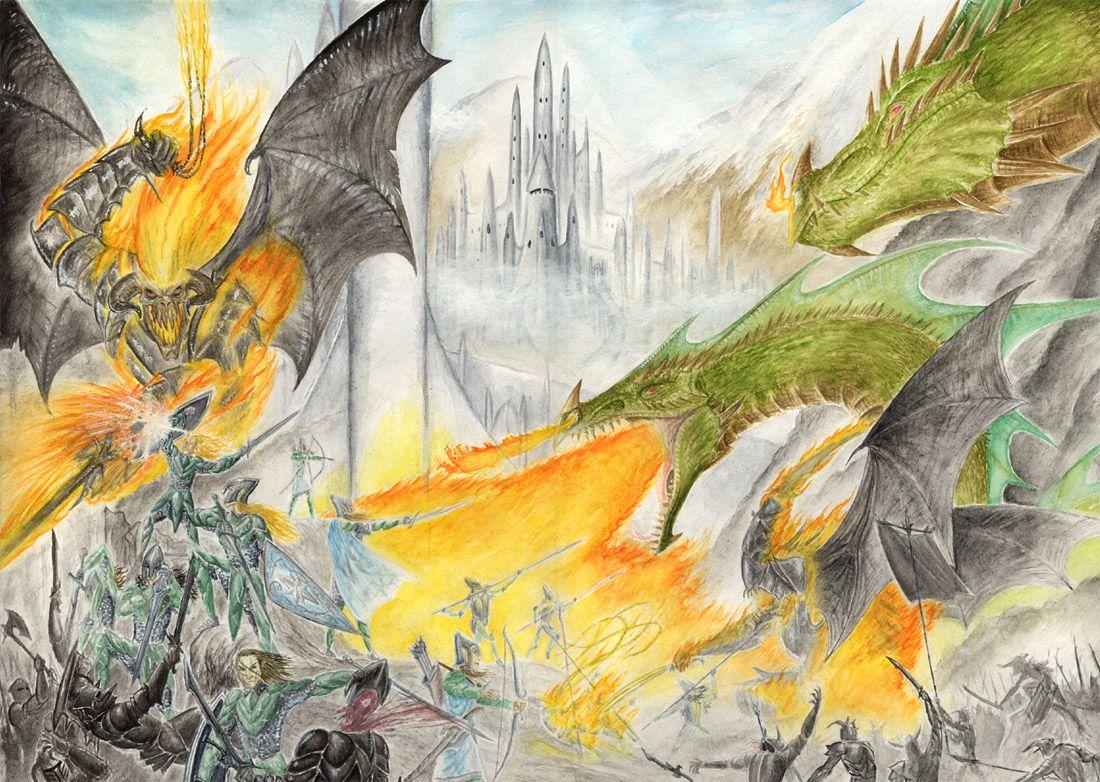 Rolozo Tolkien Fall Of Gondolin Tolkien Tolkien Art Movie Art