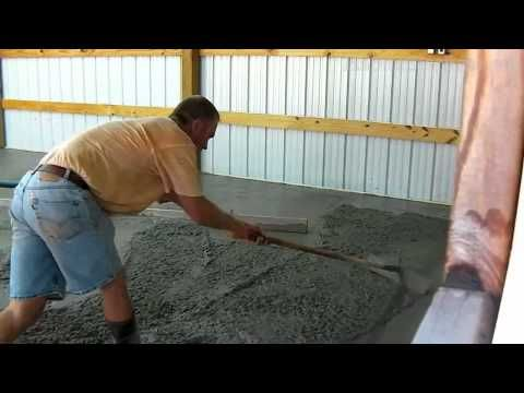 Bat Concrete Floor Pour Time Lapse You