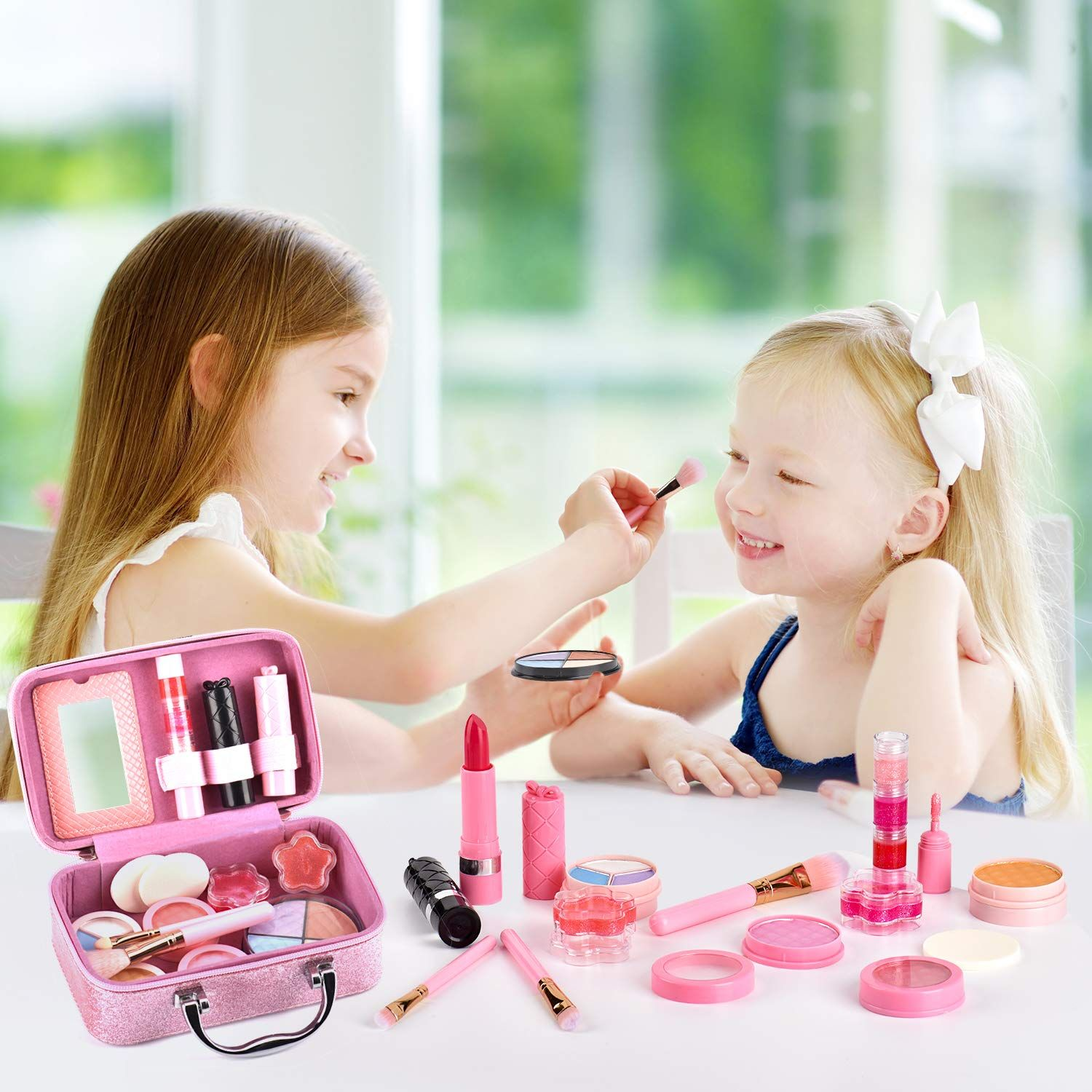 AstarX Makeup Toys for Kids, Real Washable Cosmetics Safe