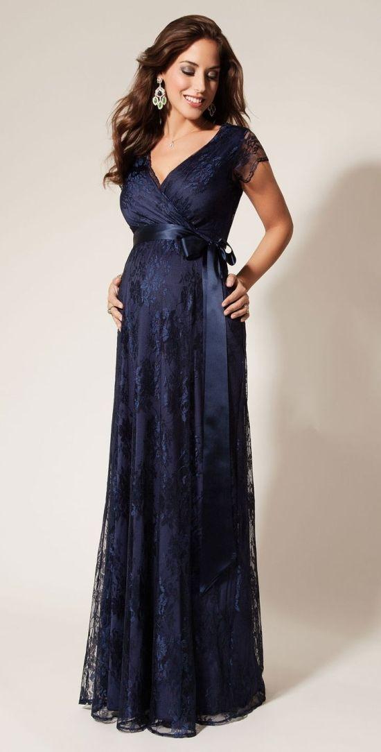 Vestido gestante azul tiffany
