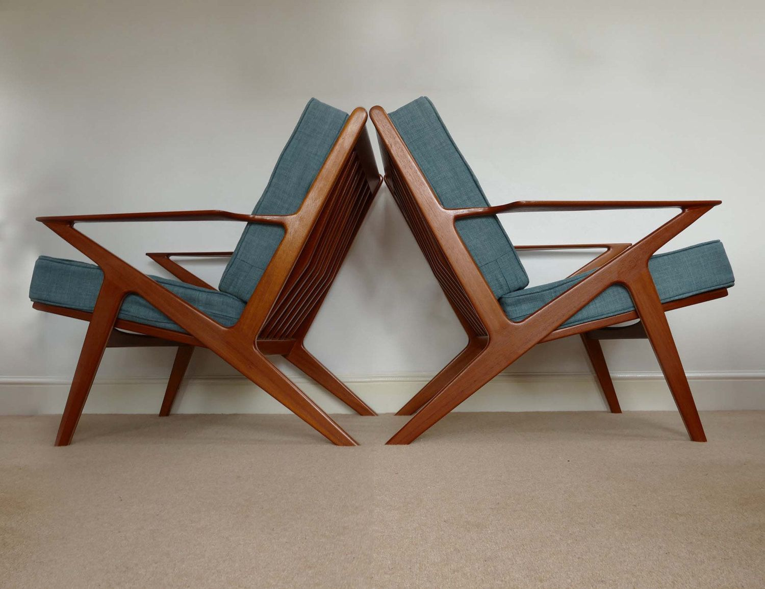 Z Chairs Mid Century Modern Seating Furniture Home Decor