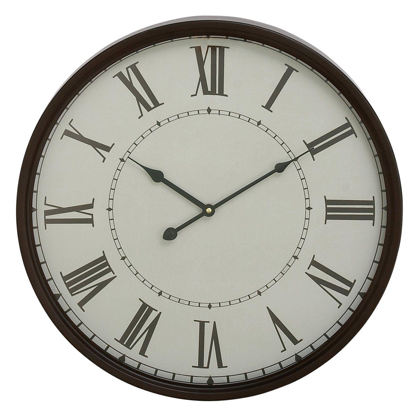 Decmode Metal Wall Clock 20 Diam In Metal Wall Clock Wall Clock Clock