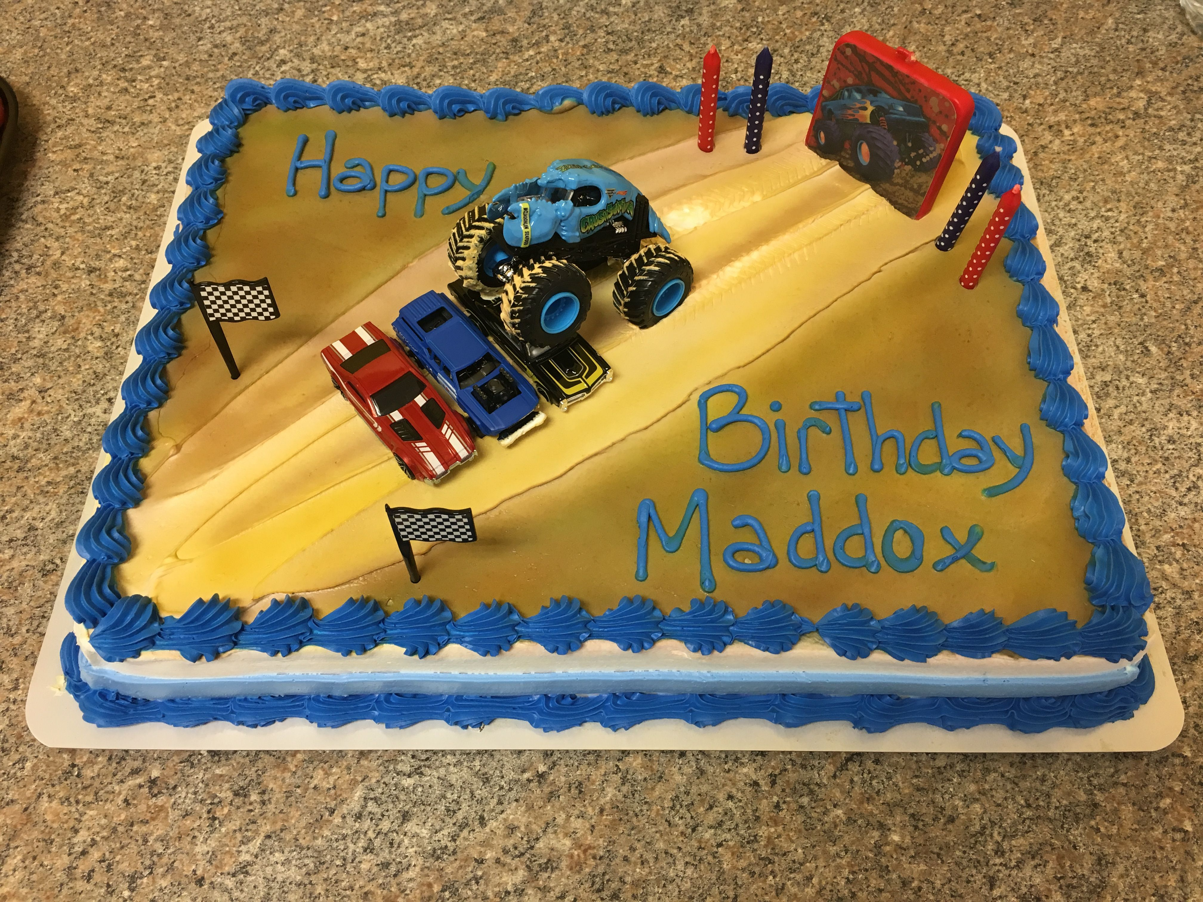 Monster Truck Birthday Cake Easy Super Target Made Cake And Toys