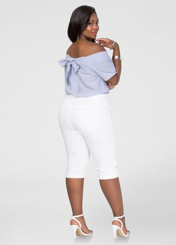 White plus size capris for the tops we love. Shop for tops at www ...