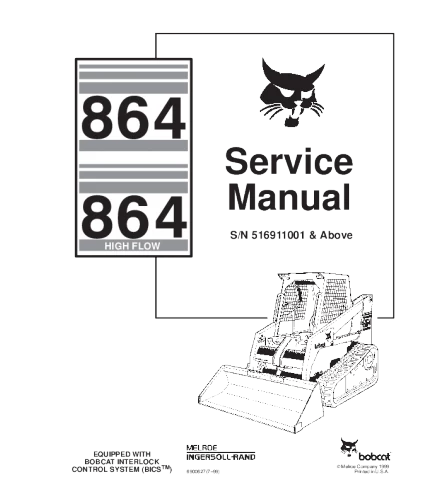 BOBCAT 864 SKID STEER LOADER SERVICE REPAIR MANUAL