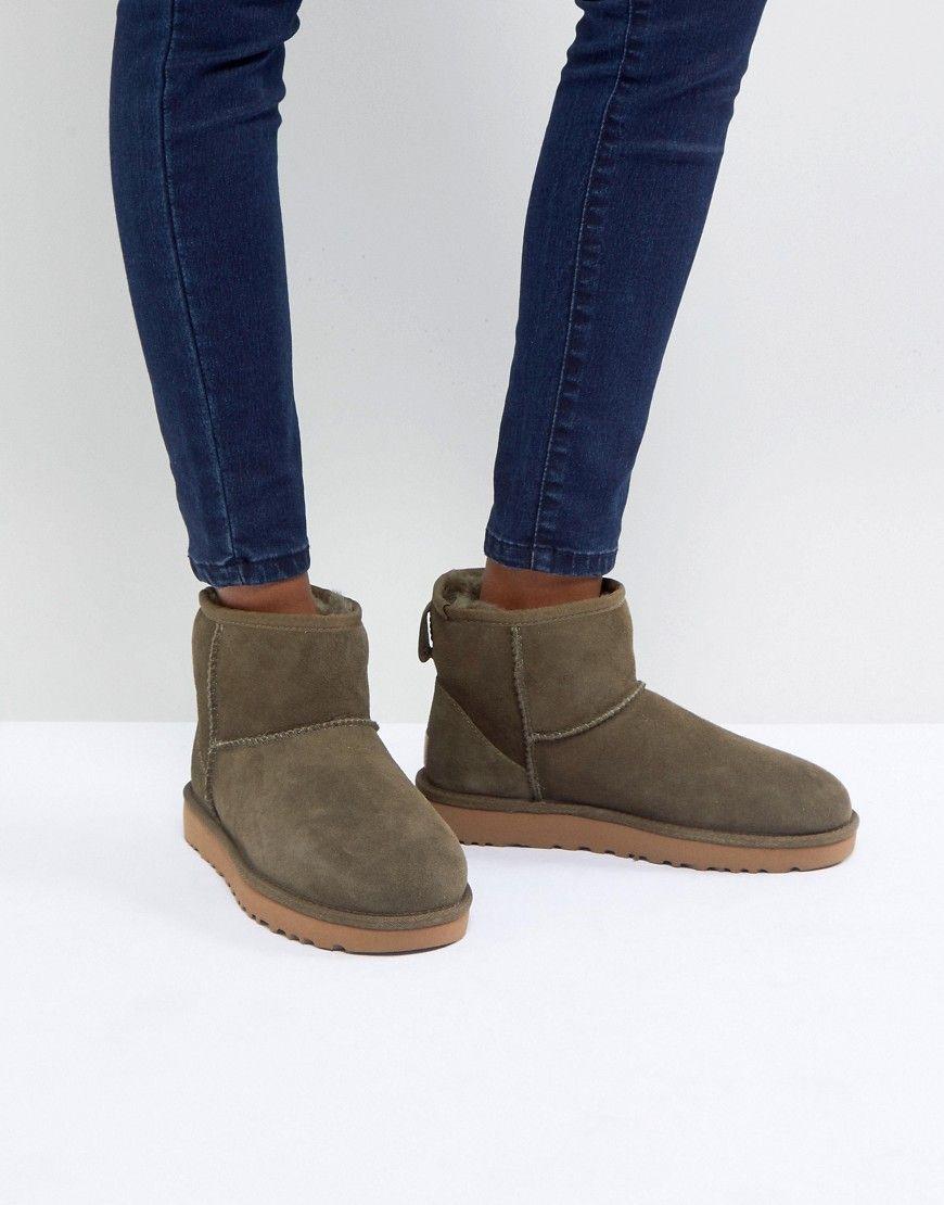 UGG - Classic Mini II - Stiefel in Olivgrün - Grün Jetzt bestellen unter:  https