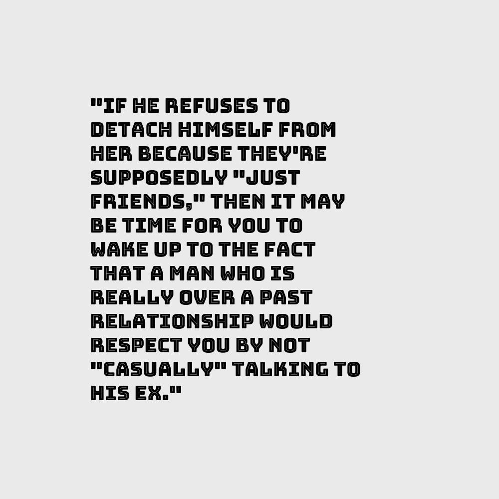 If he #refuses to #detach himself from her #because they're